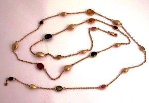 Long mixed stones necklace