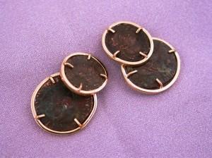 Roman Coin Cufflinks 1