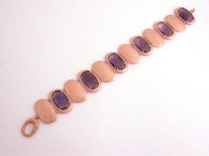 amethyst and rose gold bracelet